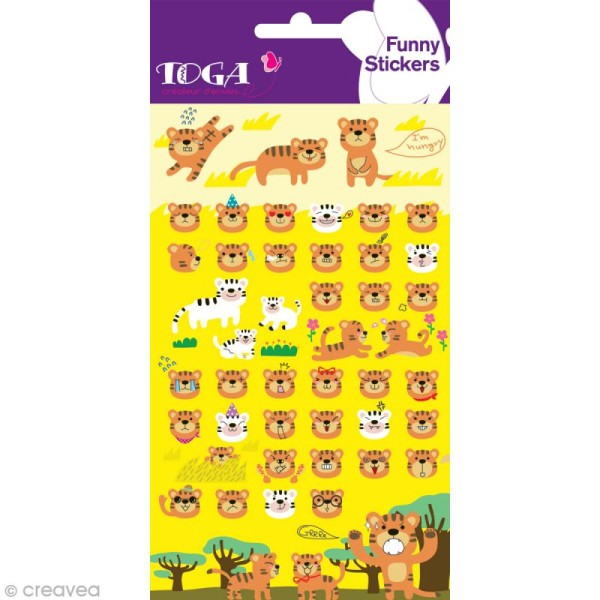 Funny stickers - epoxy - Tigre x 47 - Photo n°2