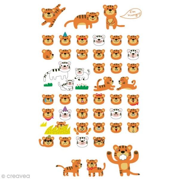 Funny stickers - epoxy - Tigre x 47 - Photo n°1