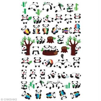 Funny stickers - epoxy - Bébé Panda x 51