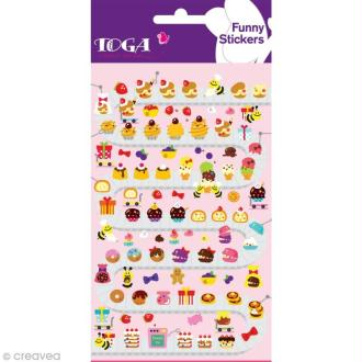 Funny stickers - epoxy - Cupcakes x 102