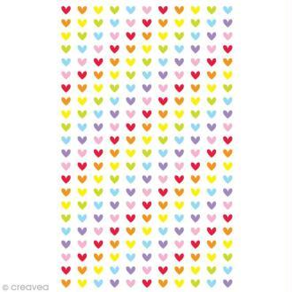 Funny stickers - epoxy - Mini coeurs x 242