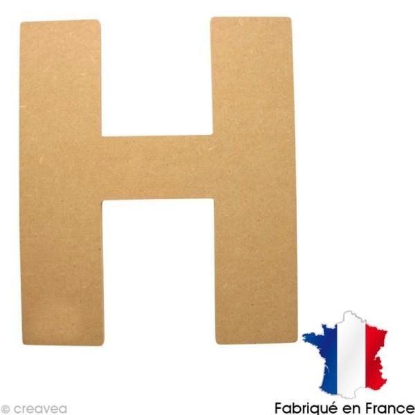 Lettre en bois 20 cm H - Photo n°1