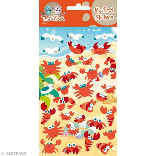 My first stickers - feutrine - Crabes x 25 - Photo n°1