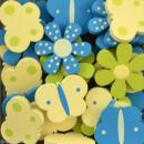 Formes en bois Lou & Léon - Assortiment fleurs et papillons Garçon - 25 pièces - Photo n°2
