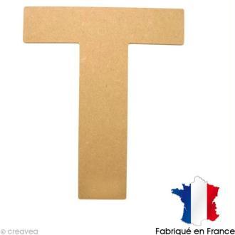 Lettre en bois 20 cm T