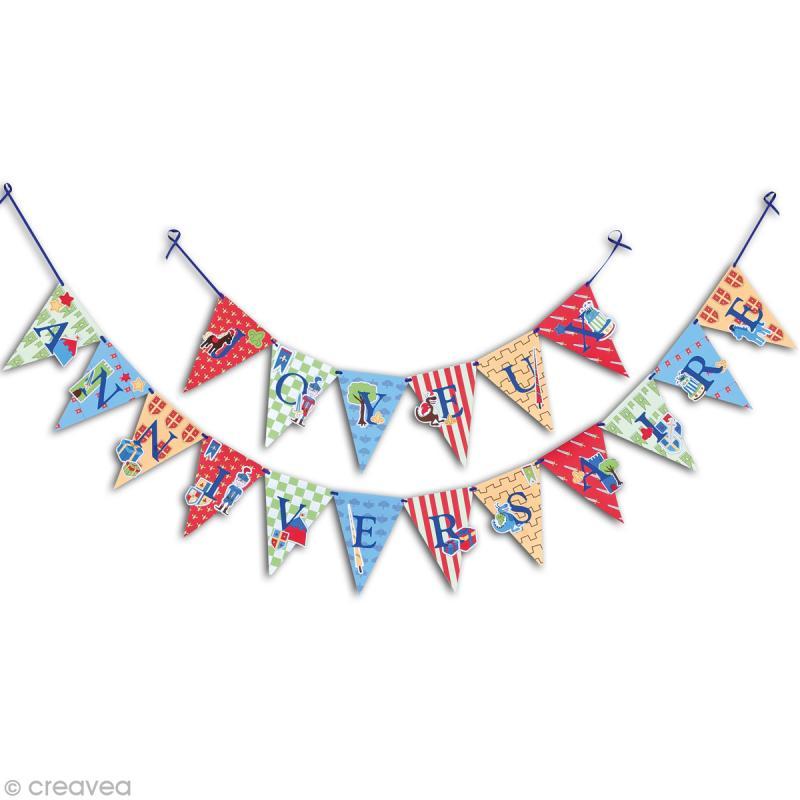 Kit guirlande anniversaire chevalier d coration de table for Guirlande decoration interieur
