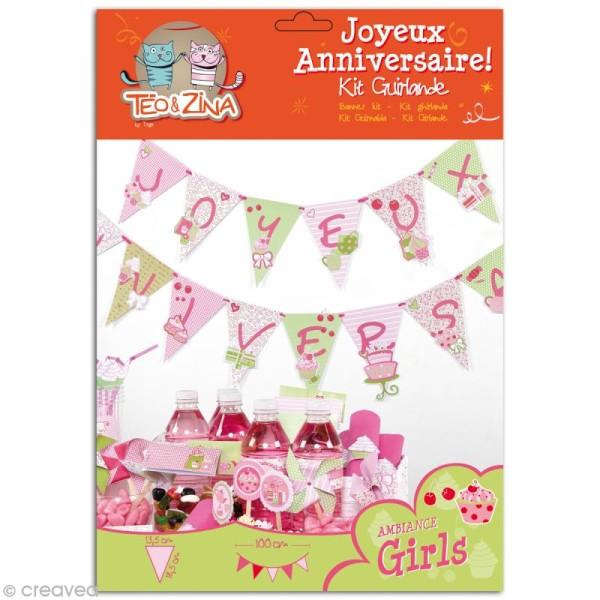 Kit Guirlande anniversaire Girls - Photo n°1