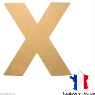 Lettre en bois 20 cm X