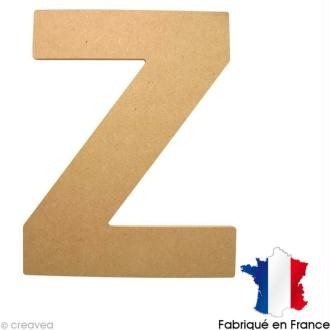 Lettre en bois 20 cm Z