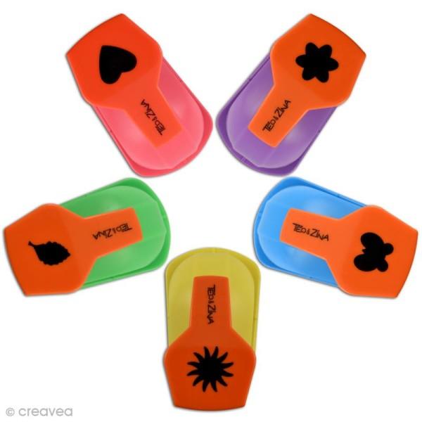 Set de 5 perforatrices - couleurs primaires - Photo n°1
