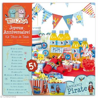 Kit Déco de table pour anniversaire - Téo & Zina - Pirate
