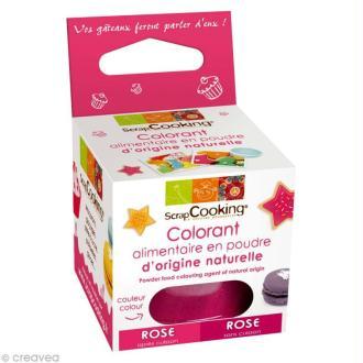 Colorant poudre alimentaire naturel Rose 10 gr