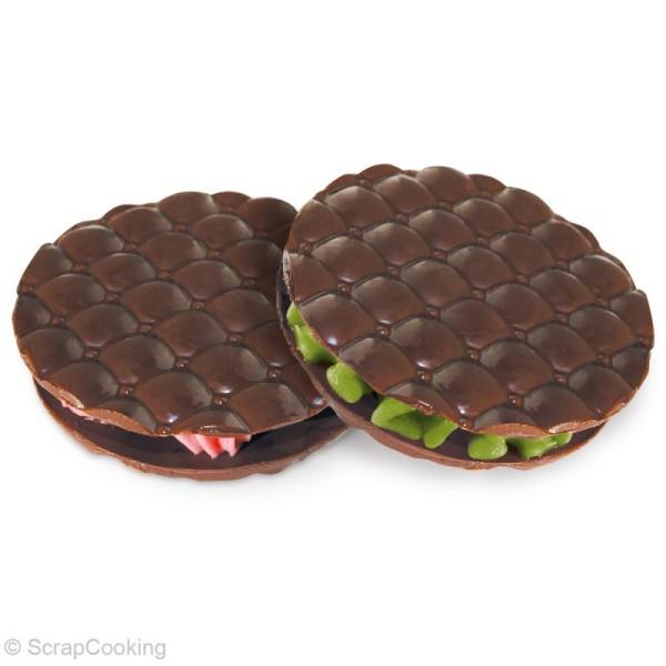 Feuille structure chocolat réutilisable x 4 - Photo n°4