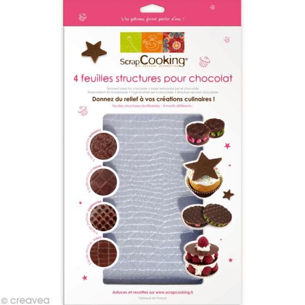 Feuille structure chocolat réutilisable x 4 - Photo n°1