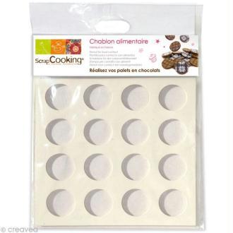 Chablon silicone pour palets en chocolat