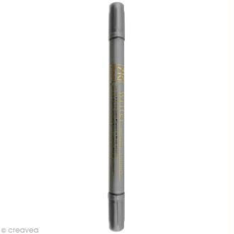 Feutre Zig double pointe Argent 1 mm et 1,2 mm