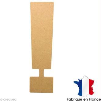 Point d'exclamation en bois 20 cm