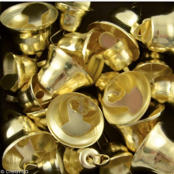 Mini clochettes dorées x 20 - Photo n°2