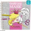 Masques à colorier et découper Filles - Livre 36 feuilles - Photo n°1
