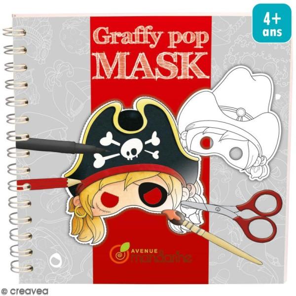 Masques à colorier et découper Garçons - Livre 36 feuilles - Photo n°1