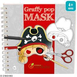 Masques à colorier et découper Garçons - Livre 36 feuilles