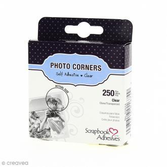 Coins photos autocollants Transparents - 250 pièces