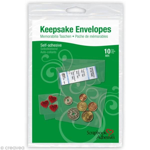 Enveloppes transparentes adhésives - Assortiment 10 pièces - Photo n°1