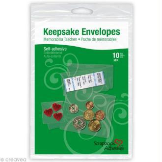 Enveloppes transparentes adhésives - Assortiment 10 pièces