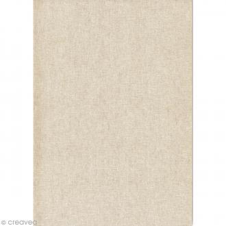 Daily like Lin blanc uni - Tissu adhésif A4