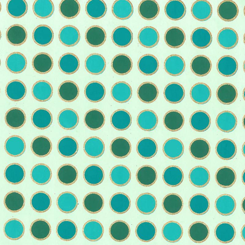 Papier scrapbooking recyclé - L'Or de Bombay - Turquoise/Vert/Or - Ass 6 feuilles 27,8 x 21,6 cm - Photo n°4