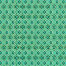 Papier scrapbooking recyclé - L'Or de Bombay - Turquoise/Vert/Or - Ass 6 feuilles 27,8 x 21,6 cm - Photo n°2