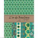 Papier scrapbooking recyclé - L'Or de Bombay - Turquoise/Vert/Or - Ass 6 feuilles 27,8 x 21,6 cm - Photo n°1