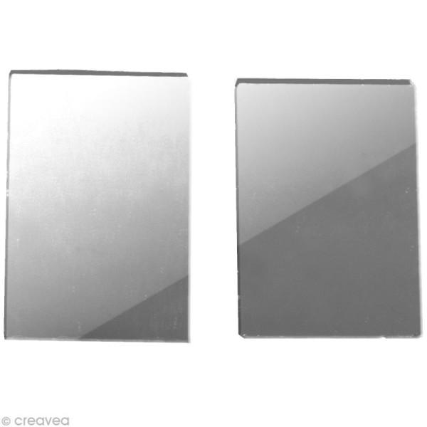 Miroir rectangulaire 3 x 2 cm - 50 pcs - Photo n°1