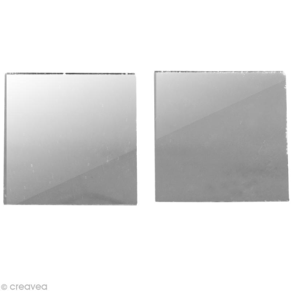Miroir carré 3 x 3 cm - 45 pcs - Photo n°1