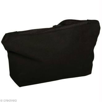 Pochette à cosmétique en tissu à décorer - noir 21 cm