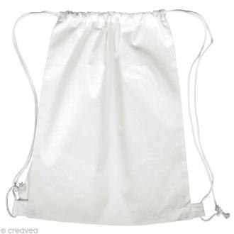 Sac de piscine en tissu à décorer - blanc 38 x 42 cm