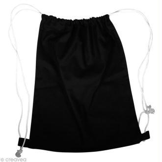 Sac de piscine en tissu à décorer - noir 38 x 42 cm