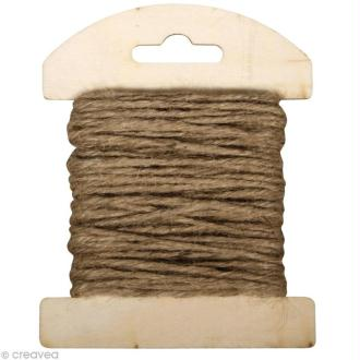 Fil de jute Sable - 2 mm x 10 m
