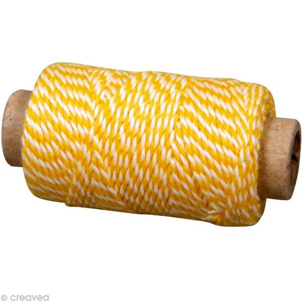 Ficelle décorative twine Jaune soleil 1 mm x 35 m - Photo n°1