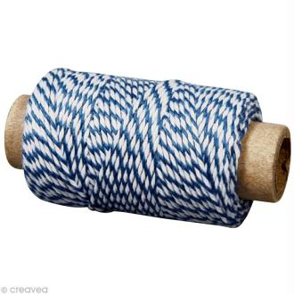 Ficelle décorative twine Bleu royal 1 mm x 35 m