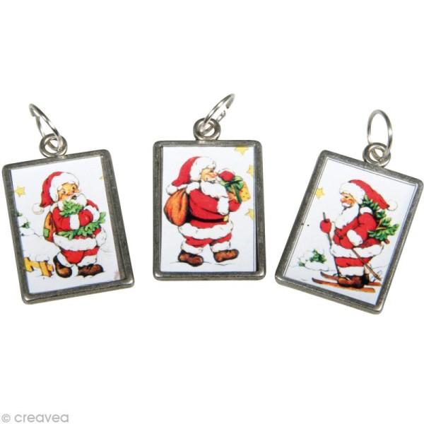 Charms en métal Père Noël x 6 - Photo n°1