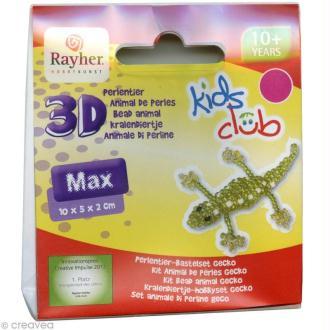 Kit animal 3D en perles - Max le lézard