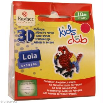 Kit perles animal en 3D - Lola le perroquet