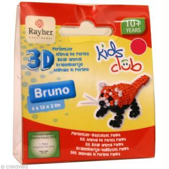 Kit perles animal en 3D - Bruno le renard