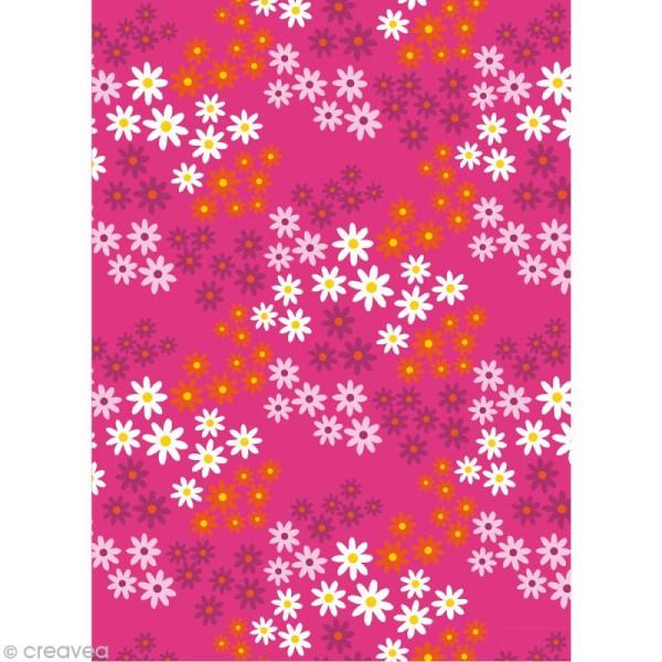 Coupon tissu Artemio Alice - Petites fleurs (fond rose) 45 x 55 cm - Photo n°1