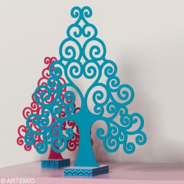 Forme en bois Noël - Sapin Volute - 3 pièces de 8,7 cm - Photo n°2