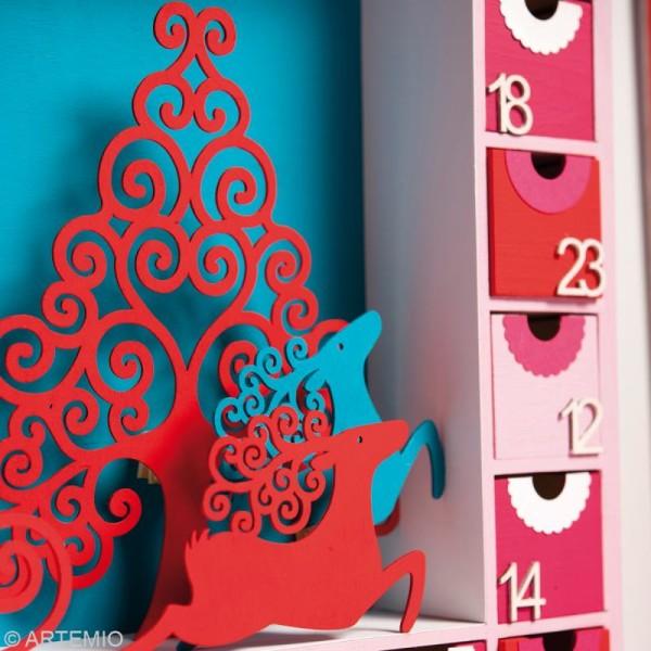 Forme en bois Noël - Sapin Volute - 3 pièces de 8,7 cm - Photo n°3