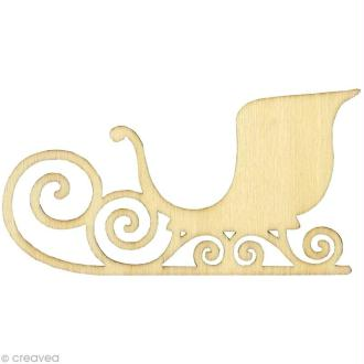 Forme en bois Noël - Traineau - 3 pièces de 12,5 cm