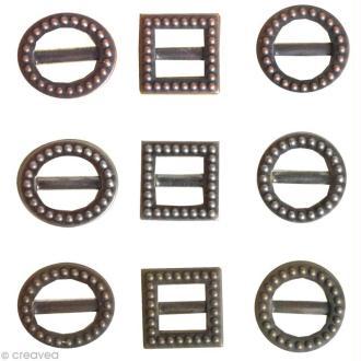 Mini Boucles de ceinture Vintage - 9 pièces
