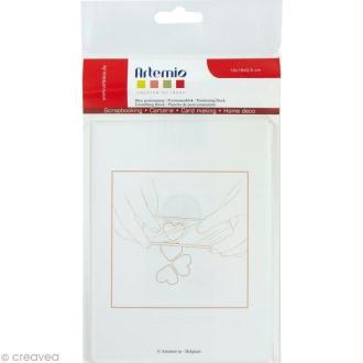 Bloc acrylique pour tampon transparent 12 x 16 cm
